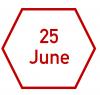 25 June